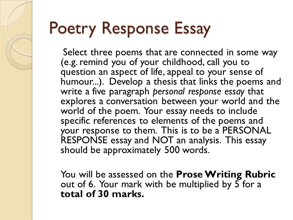 How to write response essay