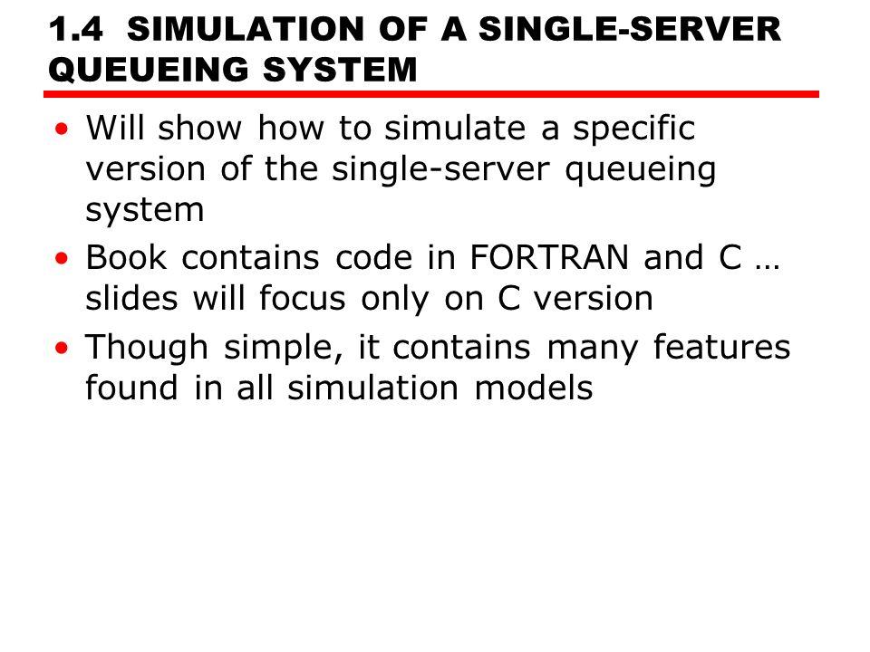 Single server queue simulation code