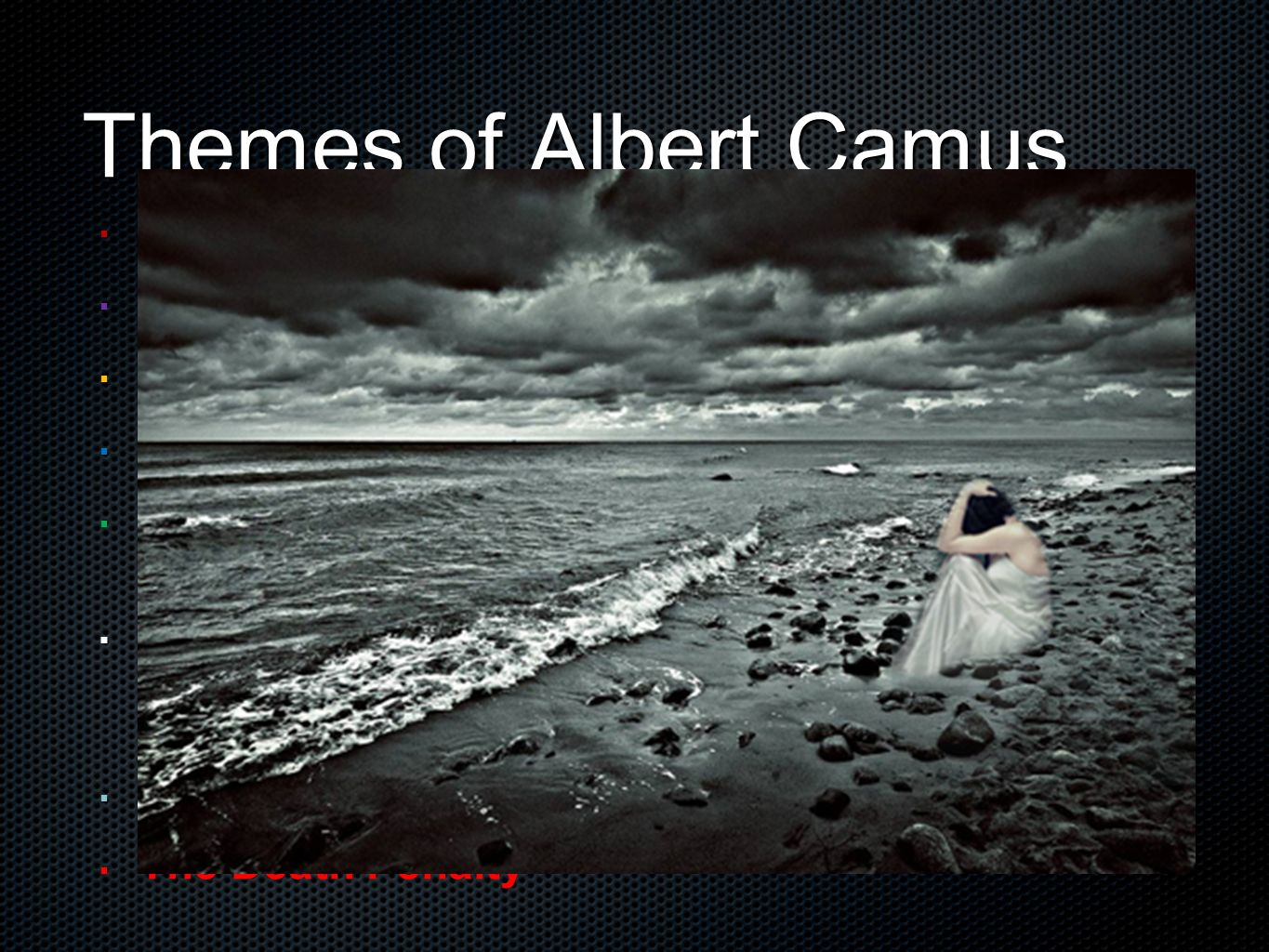 the theme of oppression of the individual by society in the outsider by albert camus Albert camus's novel the stranger is an extremely explicit work meursault as an outsider to society is an intriguing individual with a complicated.