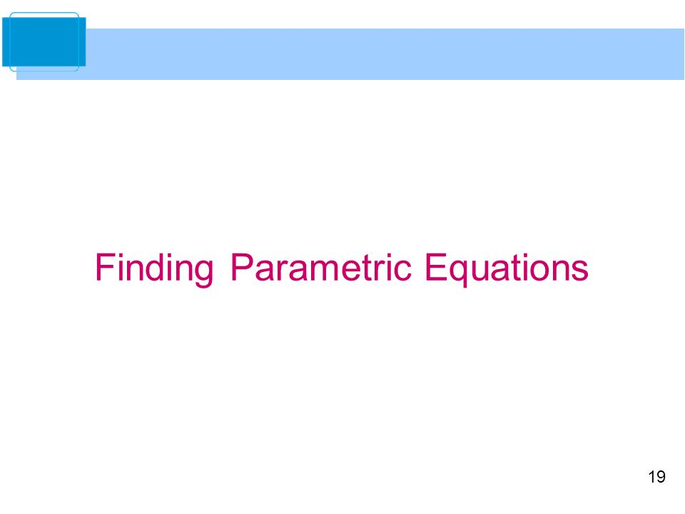how to find parametric equation of an equation