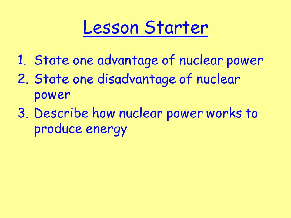 advantages disadvantages of nuclear energy Get an answer for 'what are the advantages and disadvantages of nuclear energy' and find homework help for other science questions at enotes.