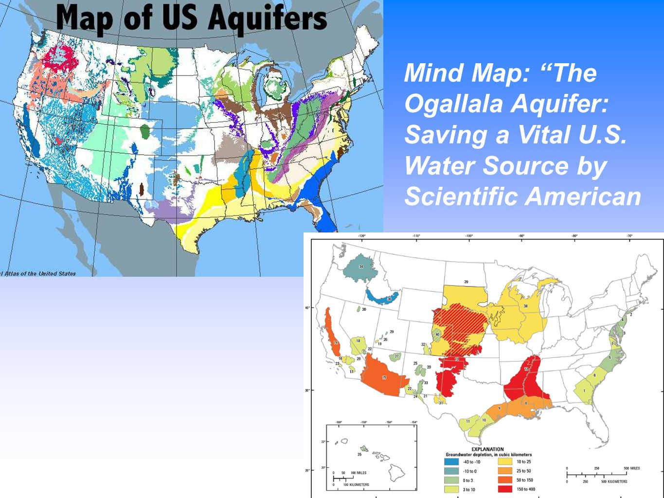 USGS Map Of The Principal Aquifers Of The United States United
