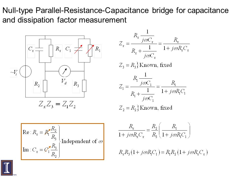 bridges to measure capacitance