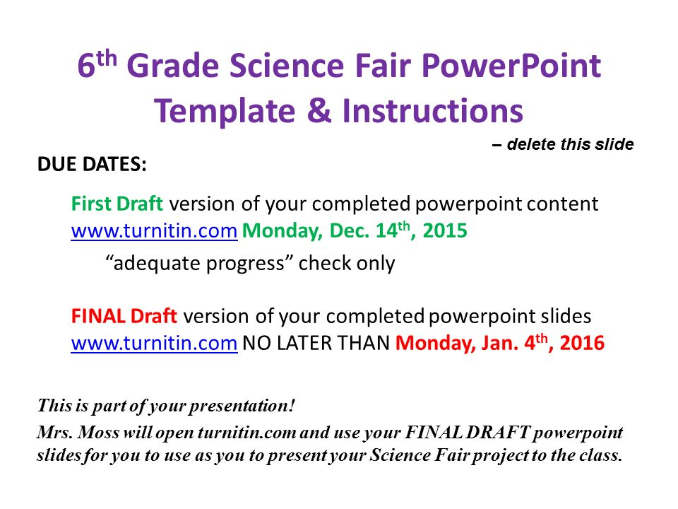 6th grade science fair powerpoint template instructions ppt 6th grade science fair powerpoint template instructions toneelgroepblik Choice Image