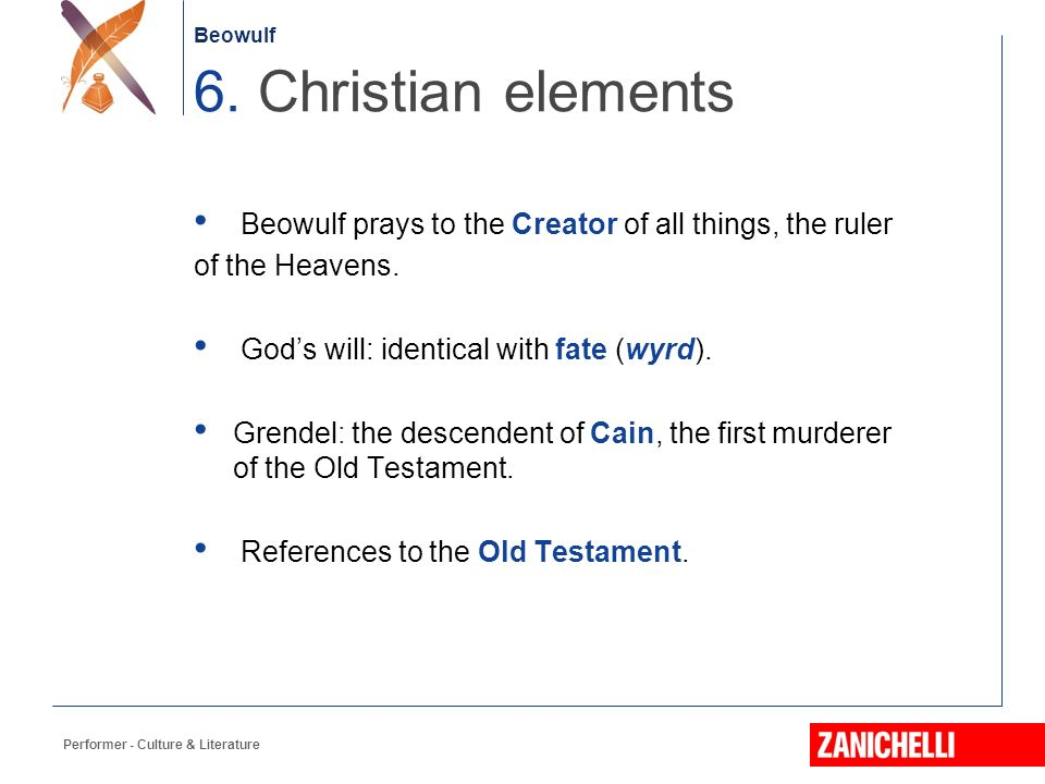Heathen and Christian Elements in Beowulf