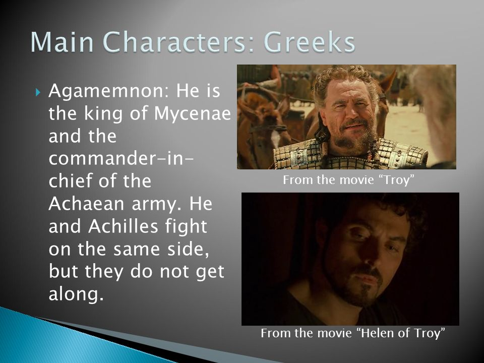 The Iliad: Character Profiles