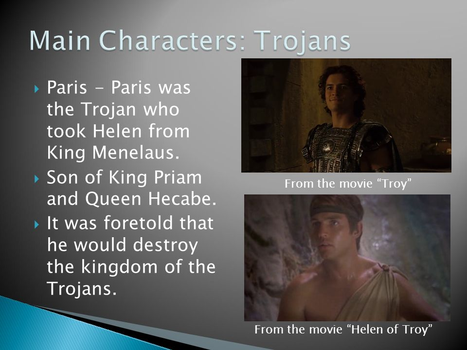 helen of troy characters Read the full synopsis of helen of troy, 1956, directed by robert wise, with rossana podestà, jack sernas, sir cedric hardwicke, at turner classic movies.
