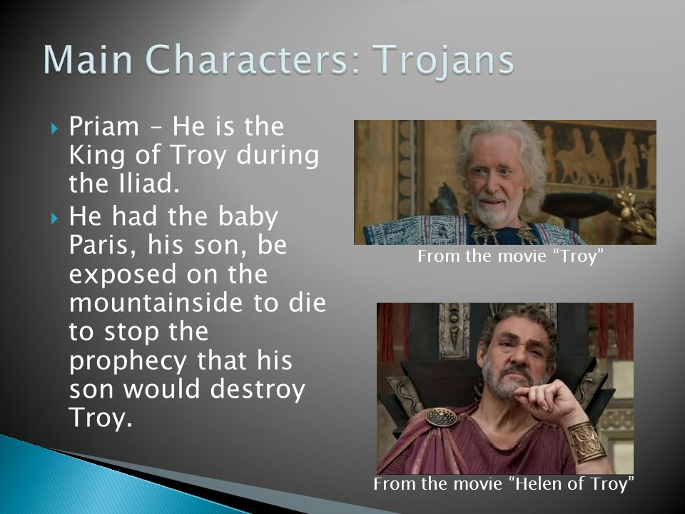characters of troy movie This site from the patriotresourcecom give cast, character and crew information for films of general interest.