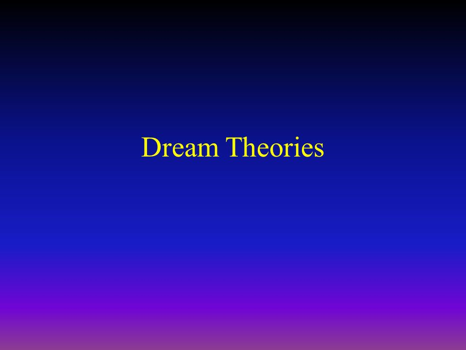 theories of dream z Frederick herzberg (1923-2000), clinical psychologist and pioneer of 'job enrichment', is regarded as one of the great original thinkers in management and motivational theory herzberg was the first to show that satisfaction and dissatisfaction at work nearly always arose from different factors.