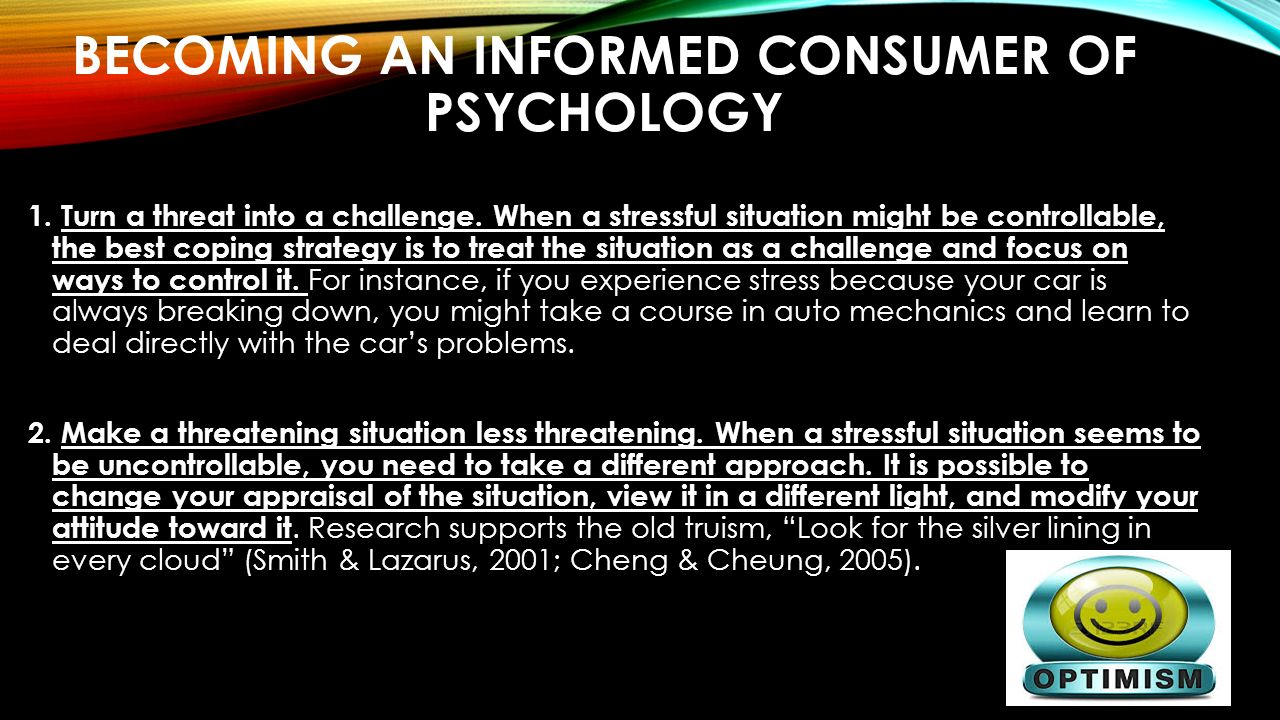 becoming and informed consumer of psychology