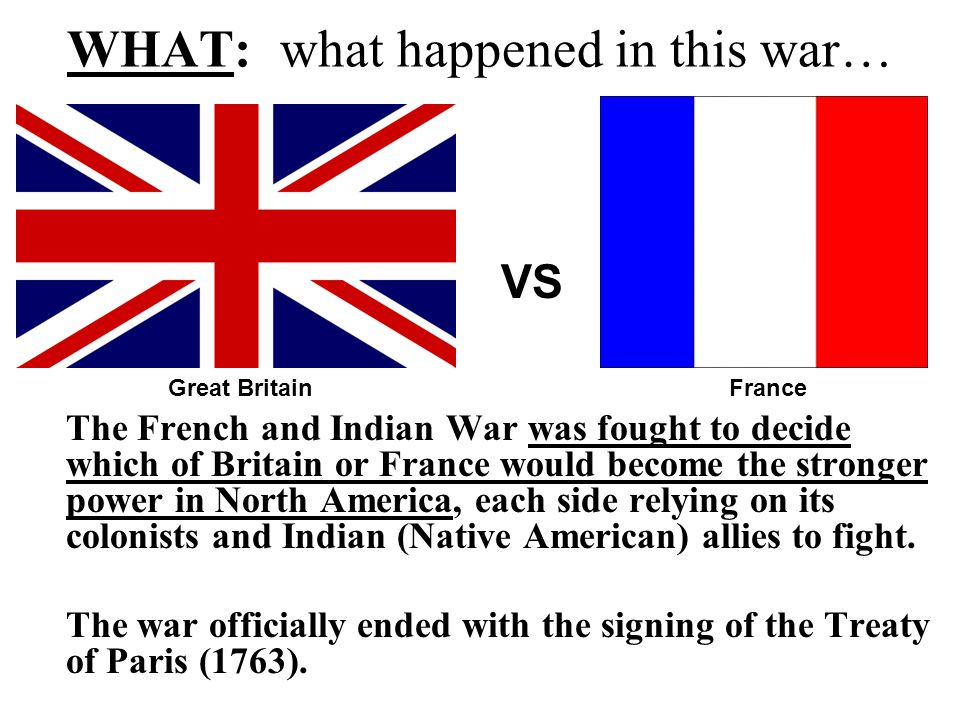 in what ways did the french and indian war In what ways did the french and indian war alter the political, economic and ideological relations beween britian and its american colonies.