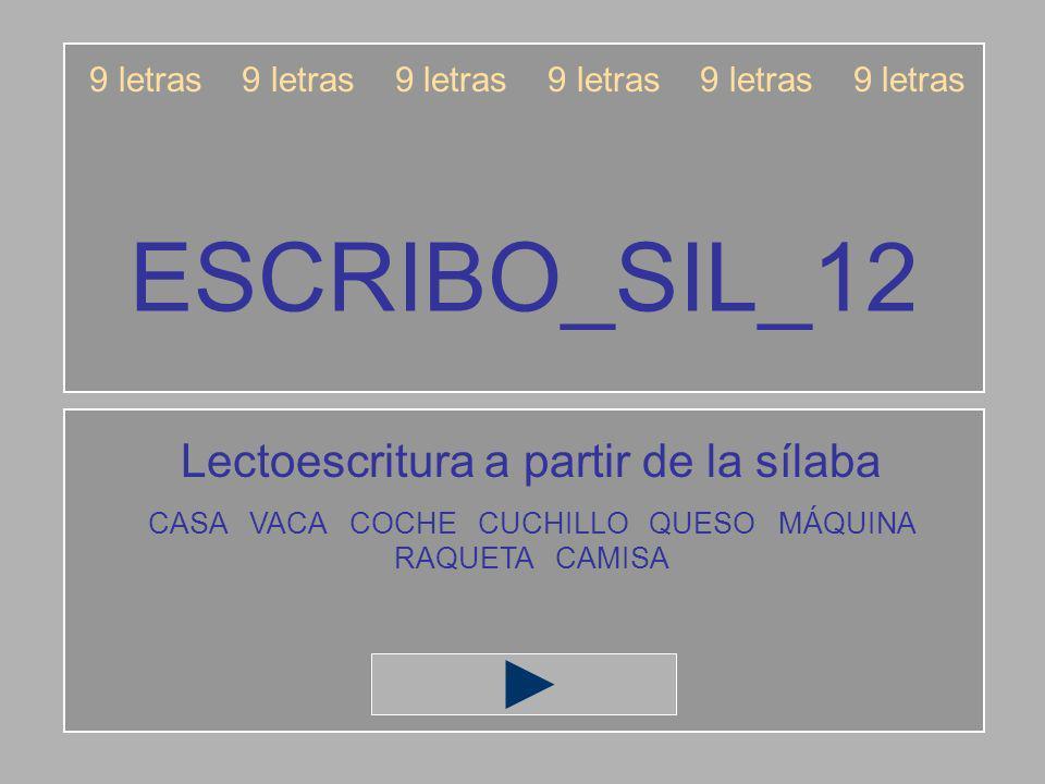 ESCRIBO_SIL_12 Lectoescritura a partir de la sílaba