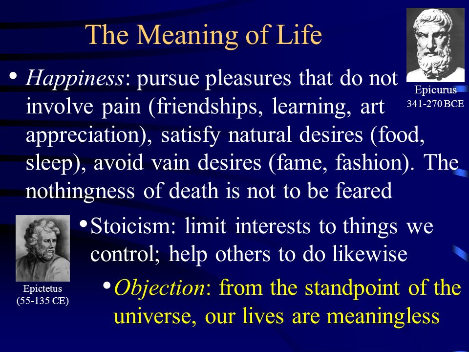 existentialism does life have meaning