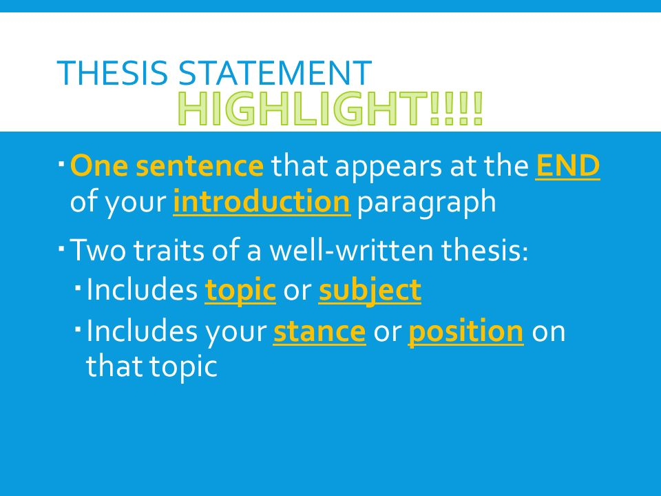 parent child relationship thesis statement To teach and mentor me through both the thesis process and my master's   relationship with the child total velo scores (p=00116), and with parent total   the difference between the parent and child rating for each statement on the  velo.