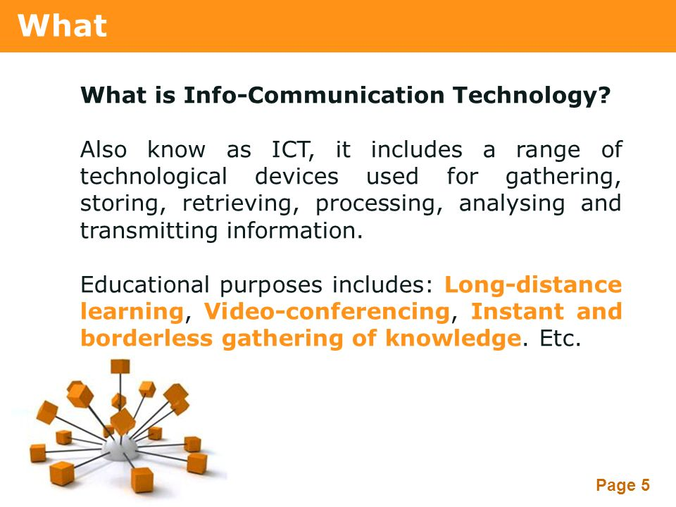 what is information communication and technology