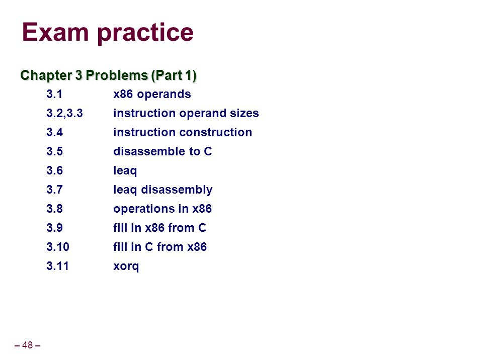 sample exam problems for operations man Sample problems are under the links in the sample problems column and the corresponding review material is under the concepts column new problems are given each time the problem links are followed.