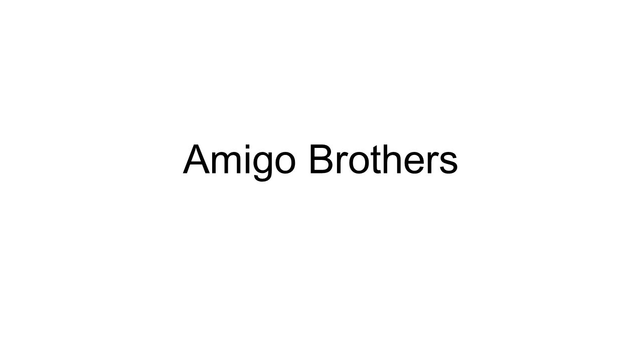 what is the theme of amigo brothers