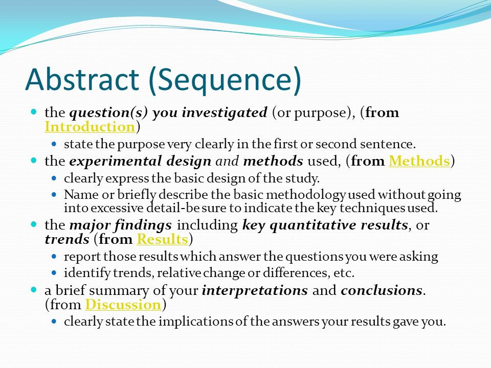 purpose of an abstract in research papers