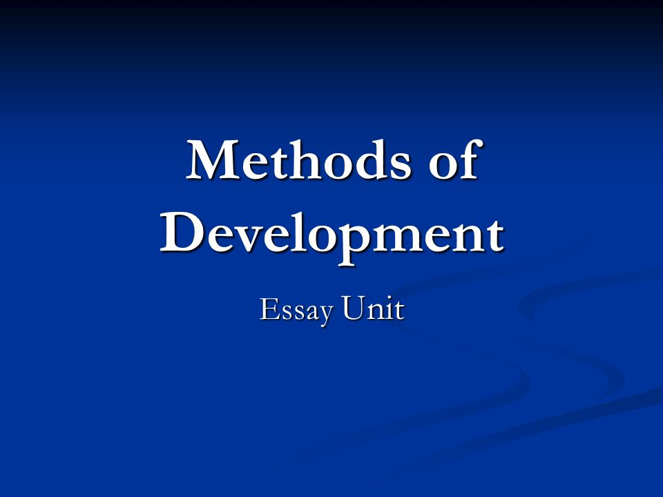 essay methods of organization Strategies for essay writing the links below provide concise advice on some fundamental elements of academic writing how to read an assignment moving from.