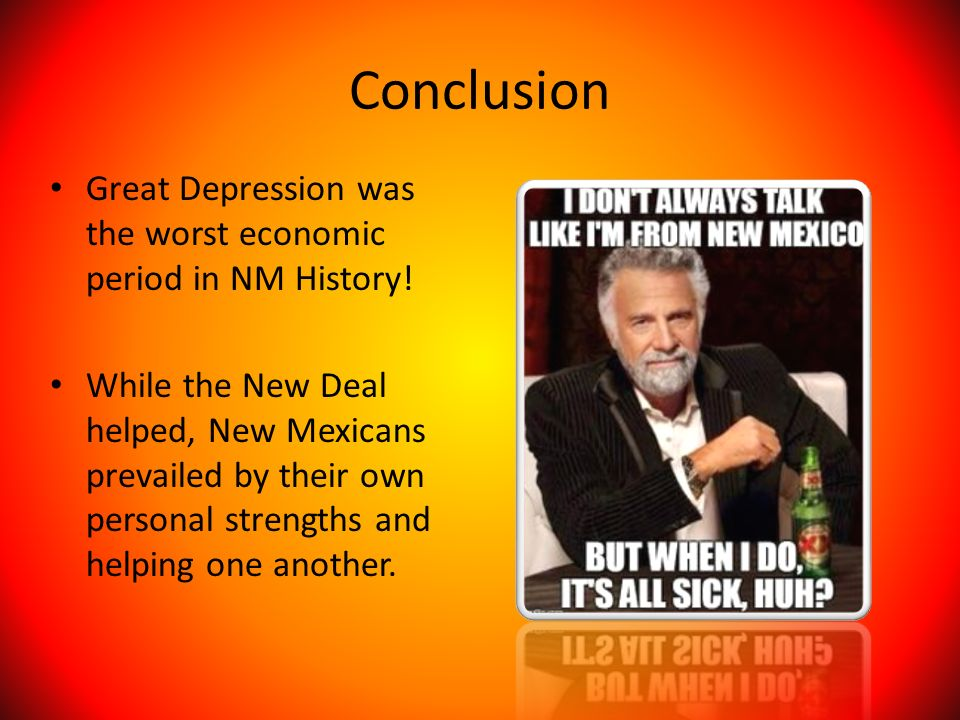 An analysis of the great depression as the worst economic slump ever in american history