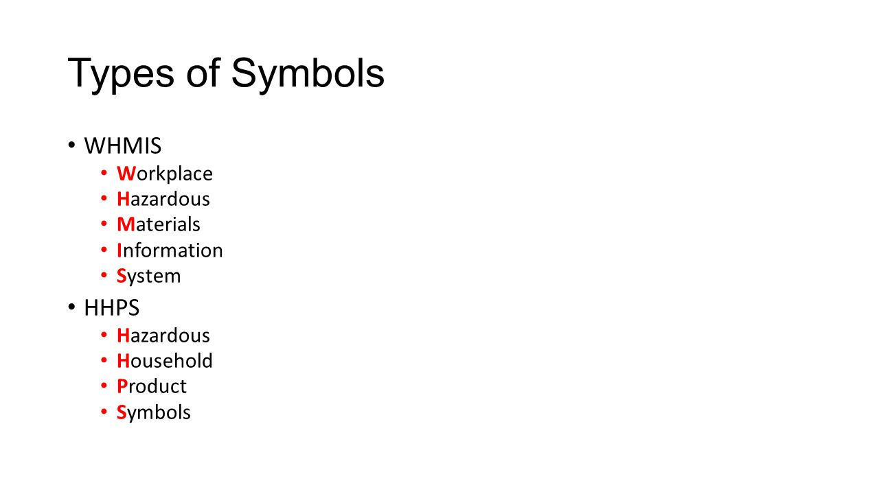 Safety symbols and labels ppt download types of symbols whmis hhps workplace hazardous materials information buycottarizona