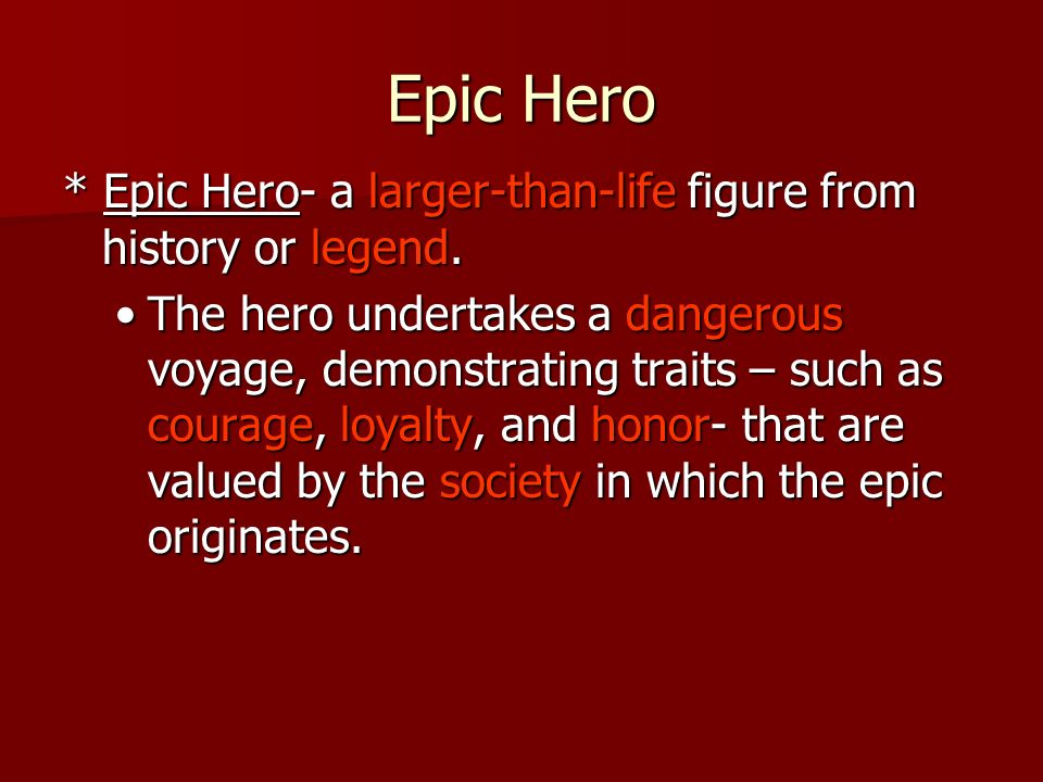 The characteristics of a hero in the epic odyssey by homer