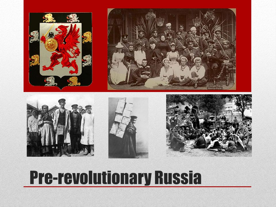 pre revolutionary russia It was also not unusual for russia's pre-revolutionary oligarchs, unfettered by  received ideas about what was worthy of collecting, to buy.