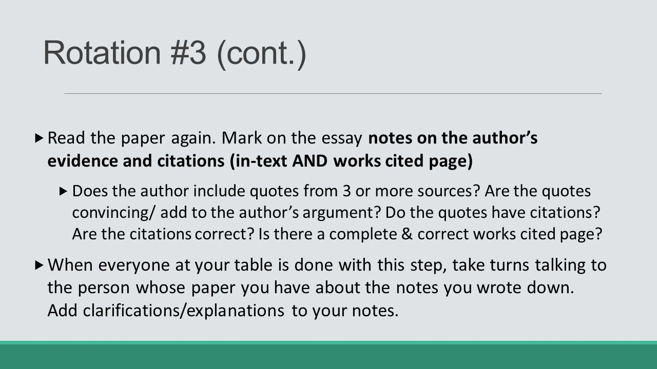 citing an essay in a paper Here's a great apa style paper checklist to follow a set of rules was developed to claim a single universal format for creating a reference list and inserting in-text citations so, students should always pay attention to the universal checklist for apa style essay when accomplishing their tasks.
