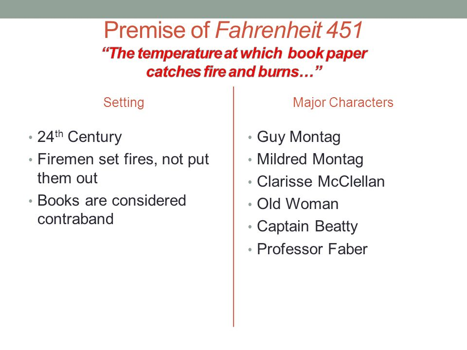 Fahrenheit 451 Old Woman Quote: Fahrenheit 451: Introduction & Journal Assignments