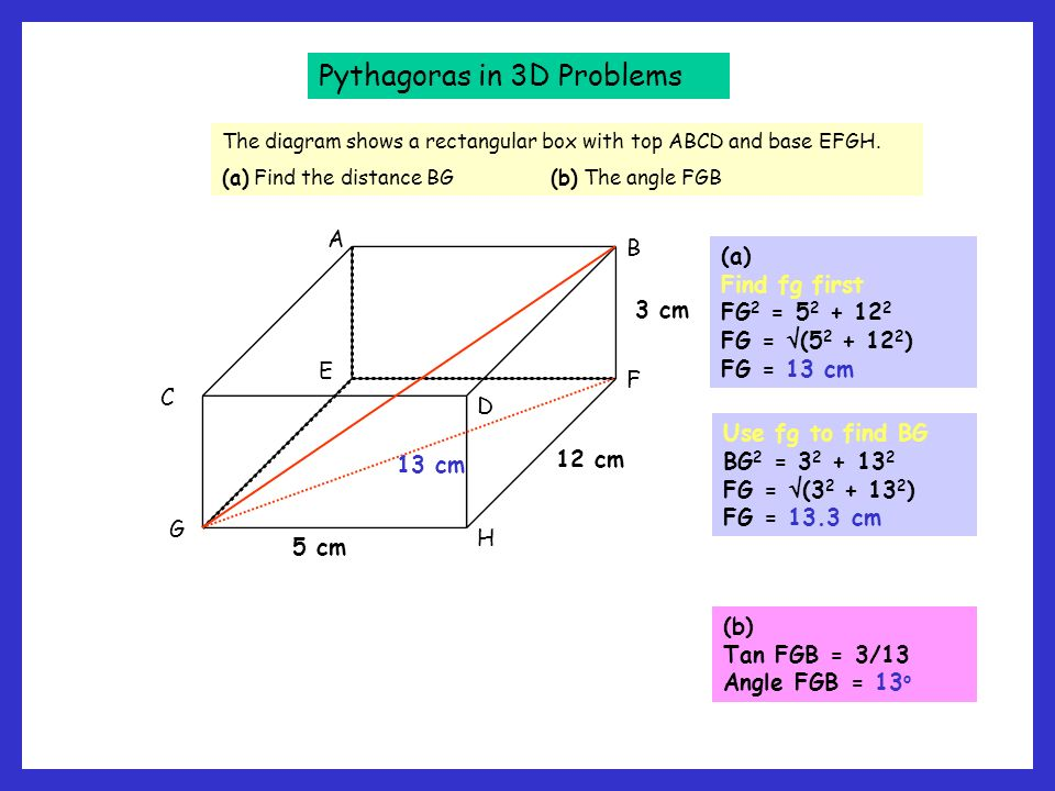 pythagorus how to find b2