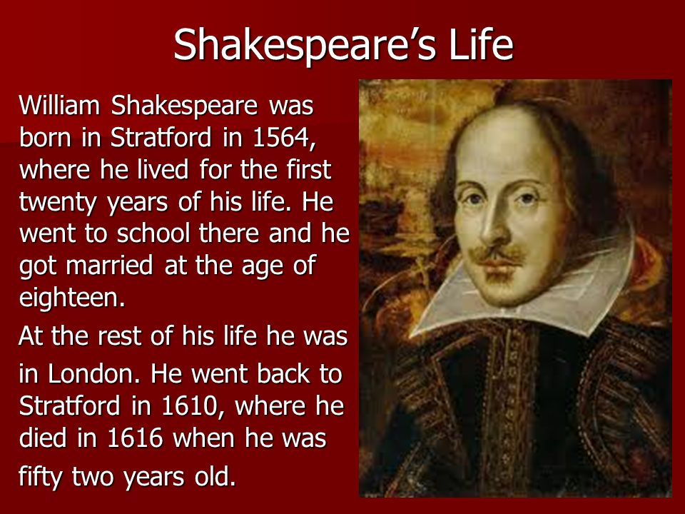 william shakespeares professional life in london William shakespeare's works are celebrated on shakespeare day  between  1585 and 1592 he began a successful career in london as an actor, writer, and.