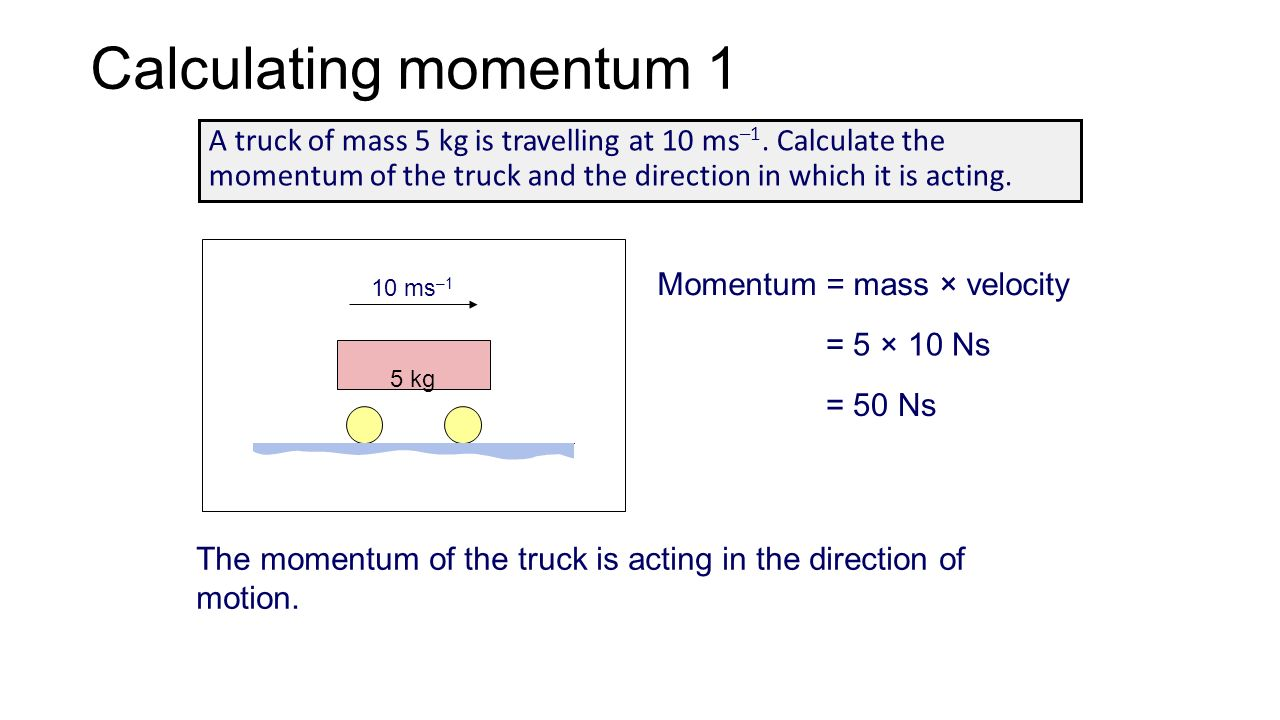 an introduction to the analysis of momentum Worked examples from introductory physics vol i: basic mechanics david murdock tenn tech univ february 24, 2005.