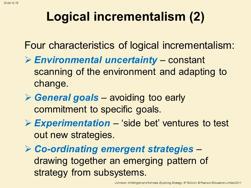 beyond incrementalism a new strategy for