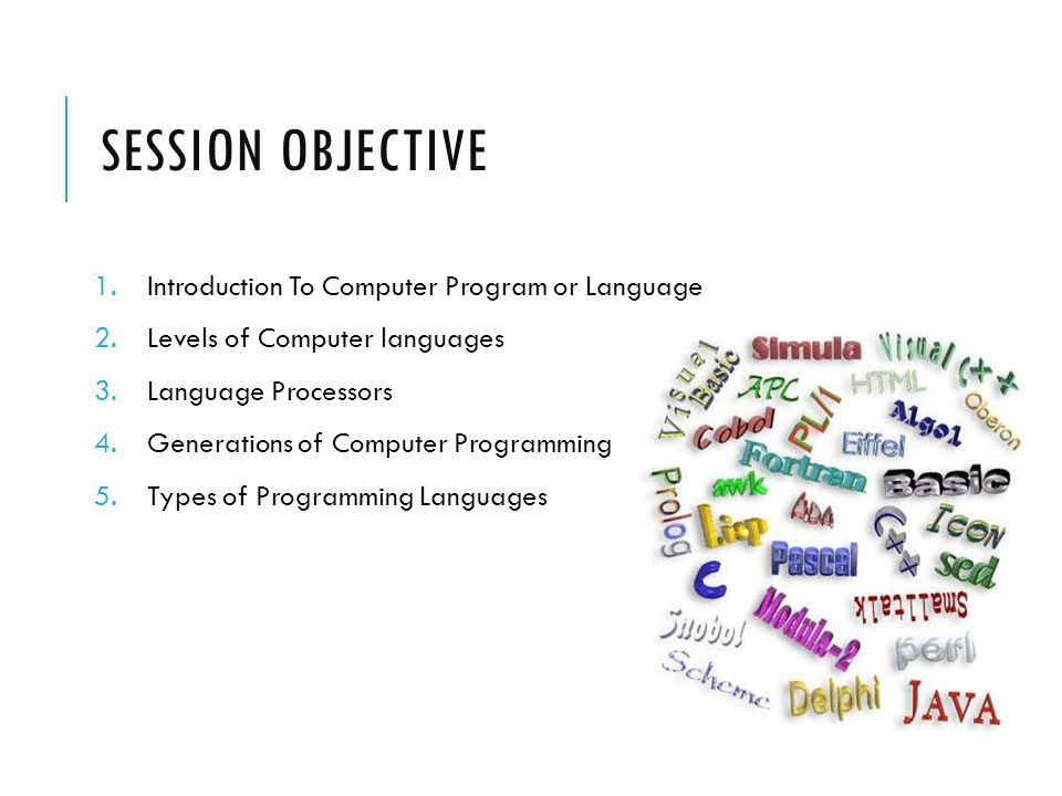 List of programming languages by type