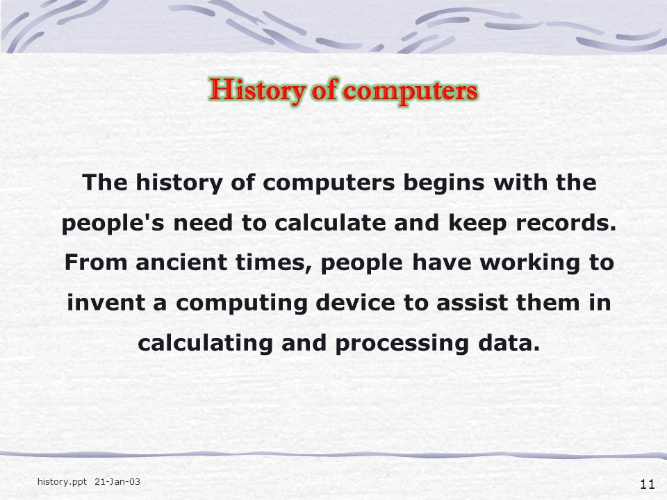 a computer history in ancient times History canada - access show times and episode guides watch vikings and forged in fire online for free in canada.