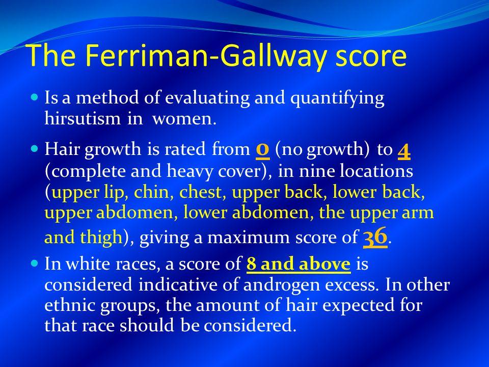 gallway ferring hirsutism scale