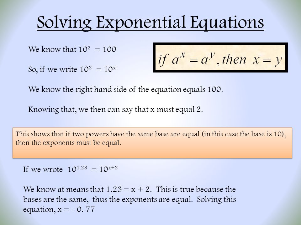How To Solve Problems With Exponents