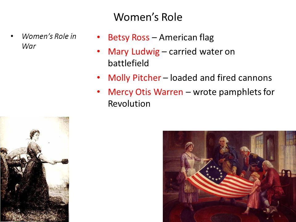 women s contribution to the american revolution Women participated in virtually every aspect of the french revolution, but their participation almost always proved controversial women's status in.