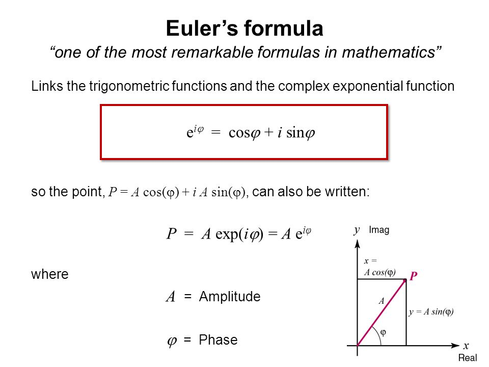 one of the most remarkable formulas in mathematics