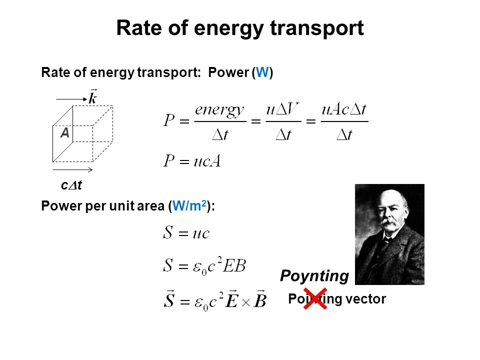 Rate of energy transport