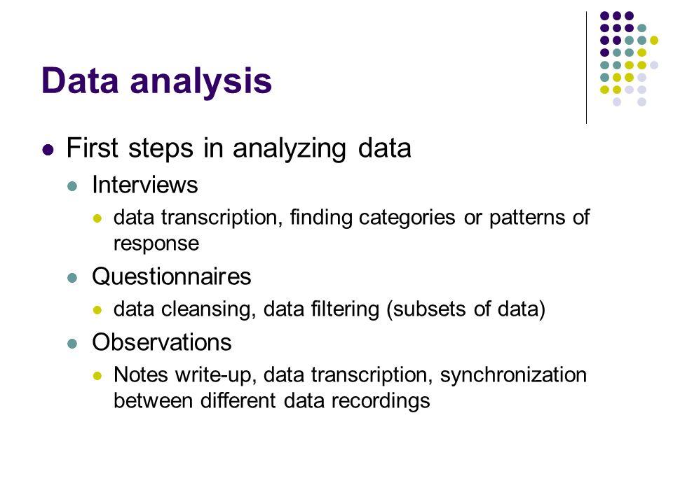 how to make data analysis