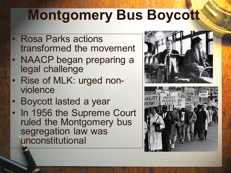 Cause and Effect: The Montgomery Bus Boycott