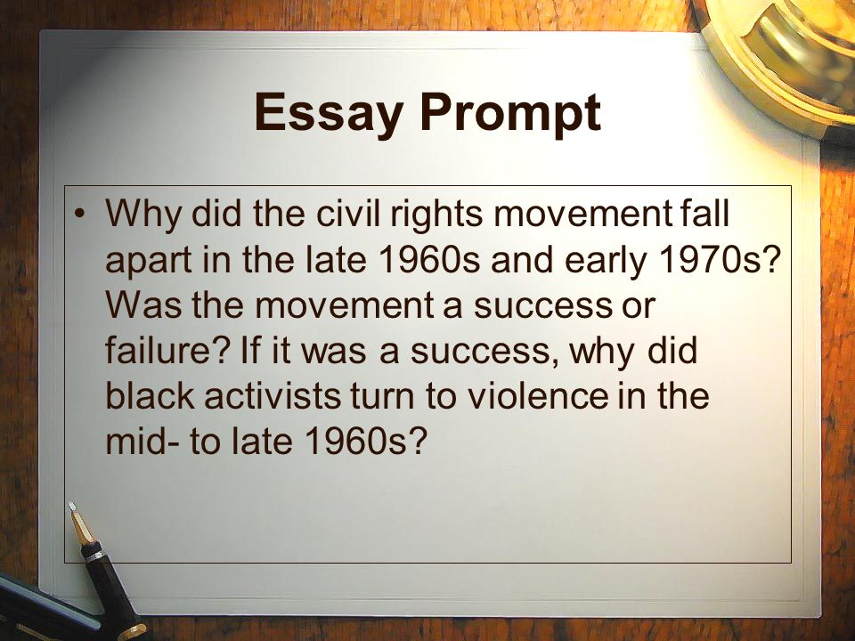 essay on civil rights movement Or click here to register if you are a k–12 educator or student, registration is free and simple and grants you exclusive access to all of our online content, including primary sources, essays, videos, and more.
