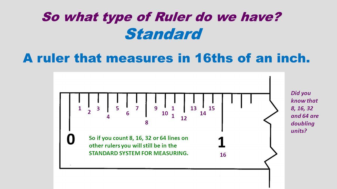 types of ruler