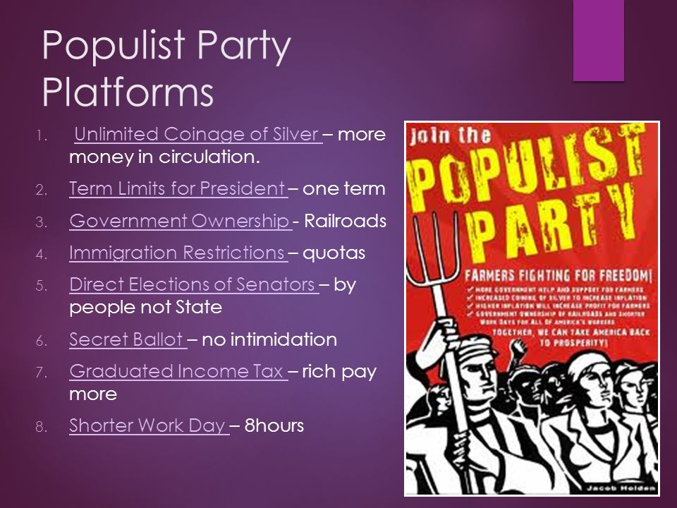 the populist movement the value of