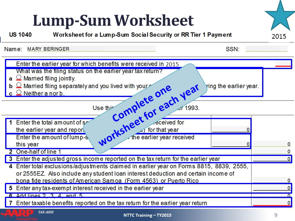 Social Security and Railroad Retirement Equivalent ppt download – Social Security Taxable Worksheet