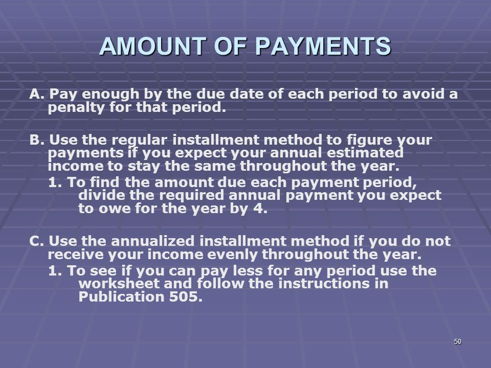 how to pay tax due
