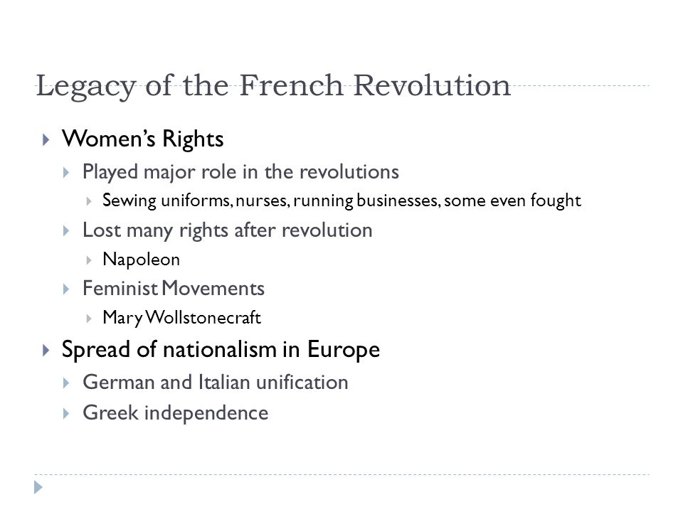 the role of the french revolution in establishing nationalism Nationalism is a political, social, and economic system characterized by promoting the interests of a particular nation particularly with the aim of.
