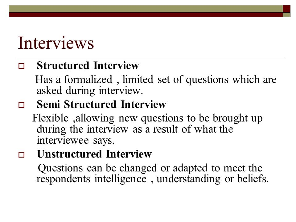 how to create a semi structured interview