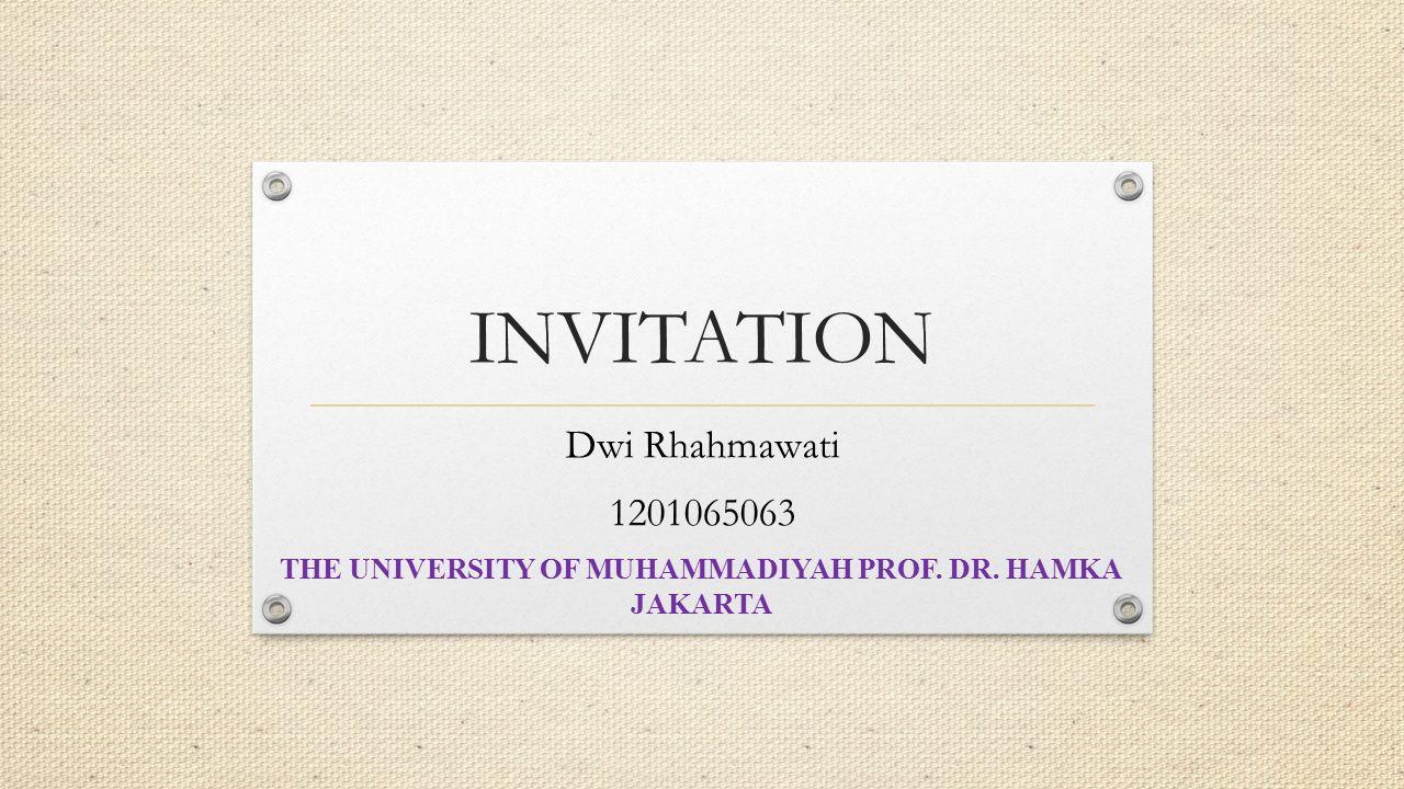 The university of muhammadiyah prof dr hamka ppt video online the university of muhammadiyah prof dr hamka stopboris Gallery